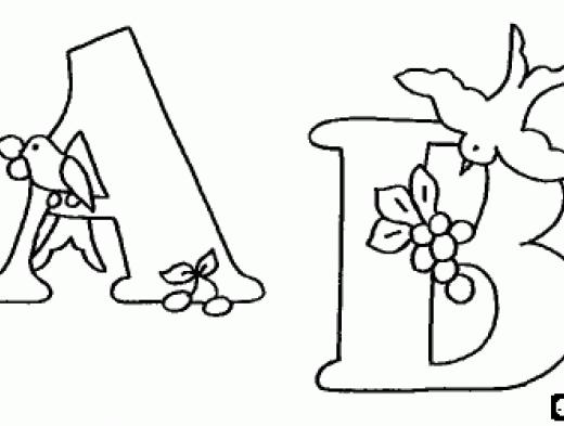 desenhos para colorir letras do alfabeto de a a g imprimir e pintar