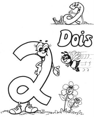 numero2 Desenho para Colorir Números de 0 a 9: Lindos para Imprimir e Pintar