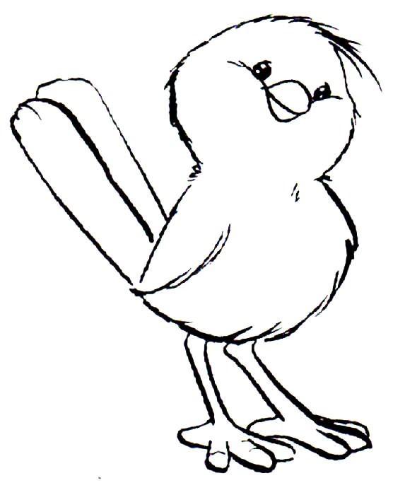 passarinho colorir Desenhos de Animais Fofos para Colorir: Imagens para Imprimir e Pintar