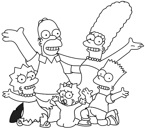 simpsons colorir Os Simpsons Desenhos para Colorir: Imagens Online, Imprimir e Pintar