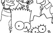 """""""Os Simpsons"""" Desenhos para Colorir: Imagens Online, Imprimir e Pintar"""
