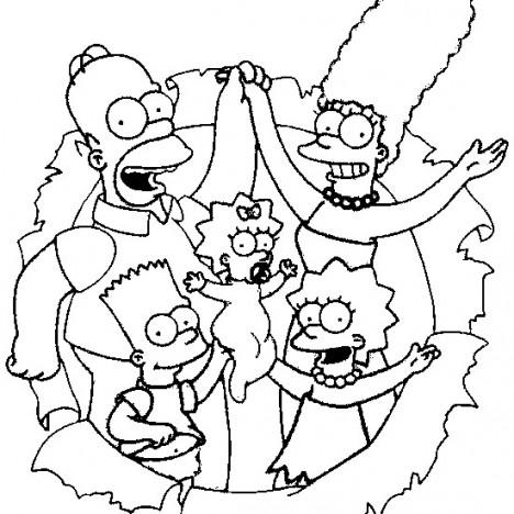 simpsons imaghem colorir Os Simpsons Desenhos para Colorir: Imagens Online, Imprimir e Pintar