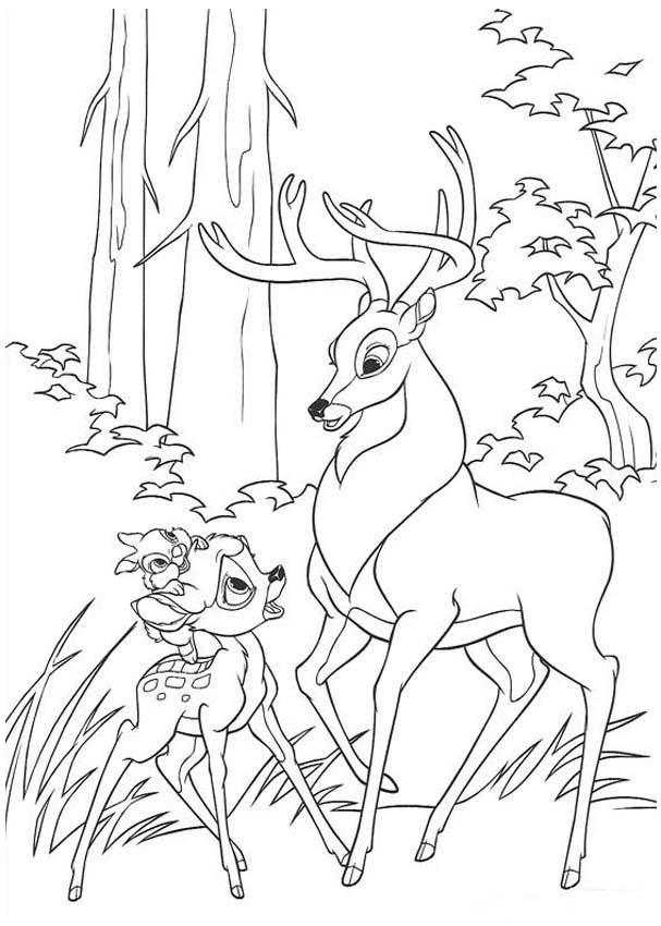 Bambi Desenho Colorir