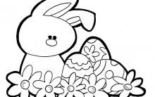Desenhos para Colorir da Páscoa 2012: Imagens de Coelhos e Ovos Pintar