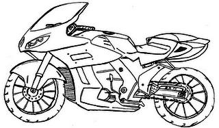 Desenhos de Motos Tunadas para Pintar: Imagens Online, Pintar Grátis