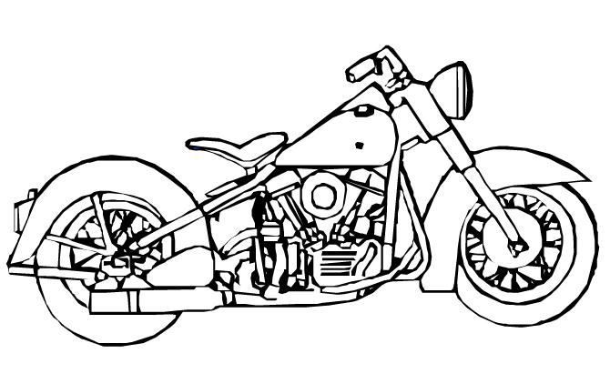 desenhos motos colorir Desenhos de Motos Tunadas para Pintar: Imagens Online, Pintar Grátis