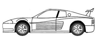 ferrari carro colorir Desenhos de Ferrari para Colorir: Carros para Imprimir e Pintar Online