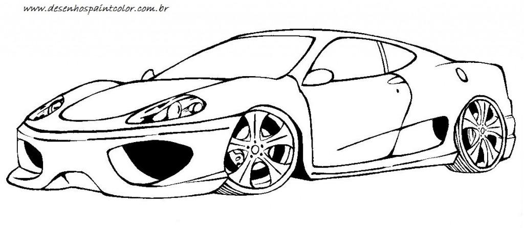 Top Desenhos de Ferrari para Colorir: Carros para Imprimir e Pintar Online MJ44