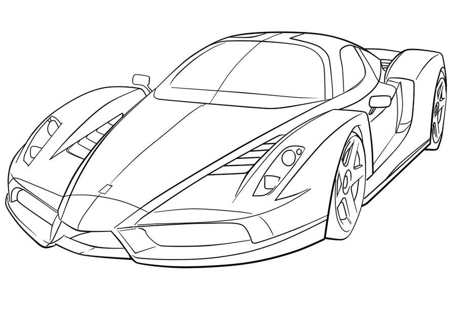 Para Colorir Desenhos De Ferrari Carros Imprimir E