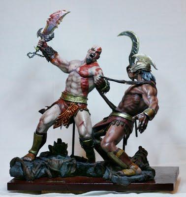 kratos ministura Miniaturas e Bonecos de Personagens de Filmes e Games: Comprar, Site