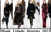 Moda Veludo Inverno 2012: Tendências, Vestidos, Blusas, Saias e Fotos