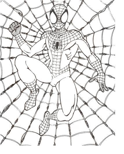 desenhos para colorir do homem aranha imagens do filme para pintar