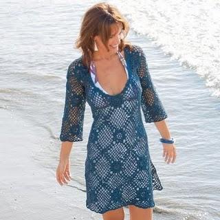 Tunica crochê saida praia 12 Saída de Praia de Crochê Gráficos de