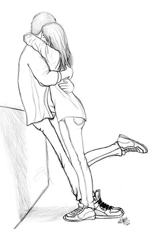 Casal Namorados Colorir