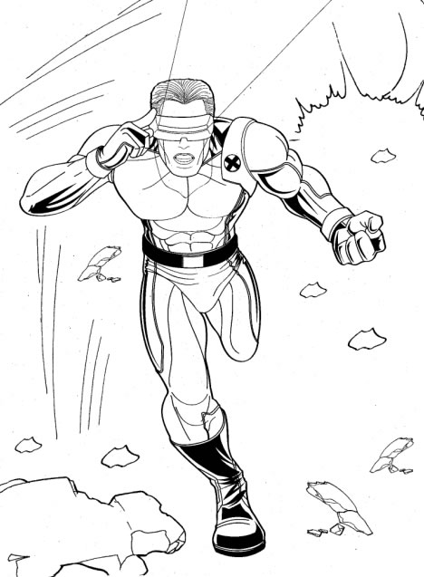 ciclope do x men para colorir Desenhos para Colorir do X Men: Wolverine, Vampira, Ciclope etc Online