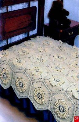 colcha amarela 12 Colchas de Crochê em Barbante Crú e Colorido  Confira Fotos e Modelos