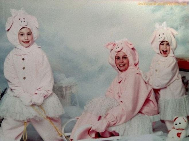familia completa porco Fotos de Famílias Engraçadas: Melhores Imagens de Momentos Ridículos