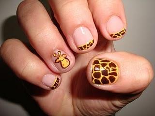 girafa nail art Nail Art de Animais: Fotos de Unhas com Desenhos de Vaca, Onça, Girafa