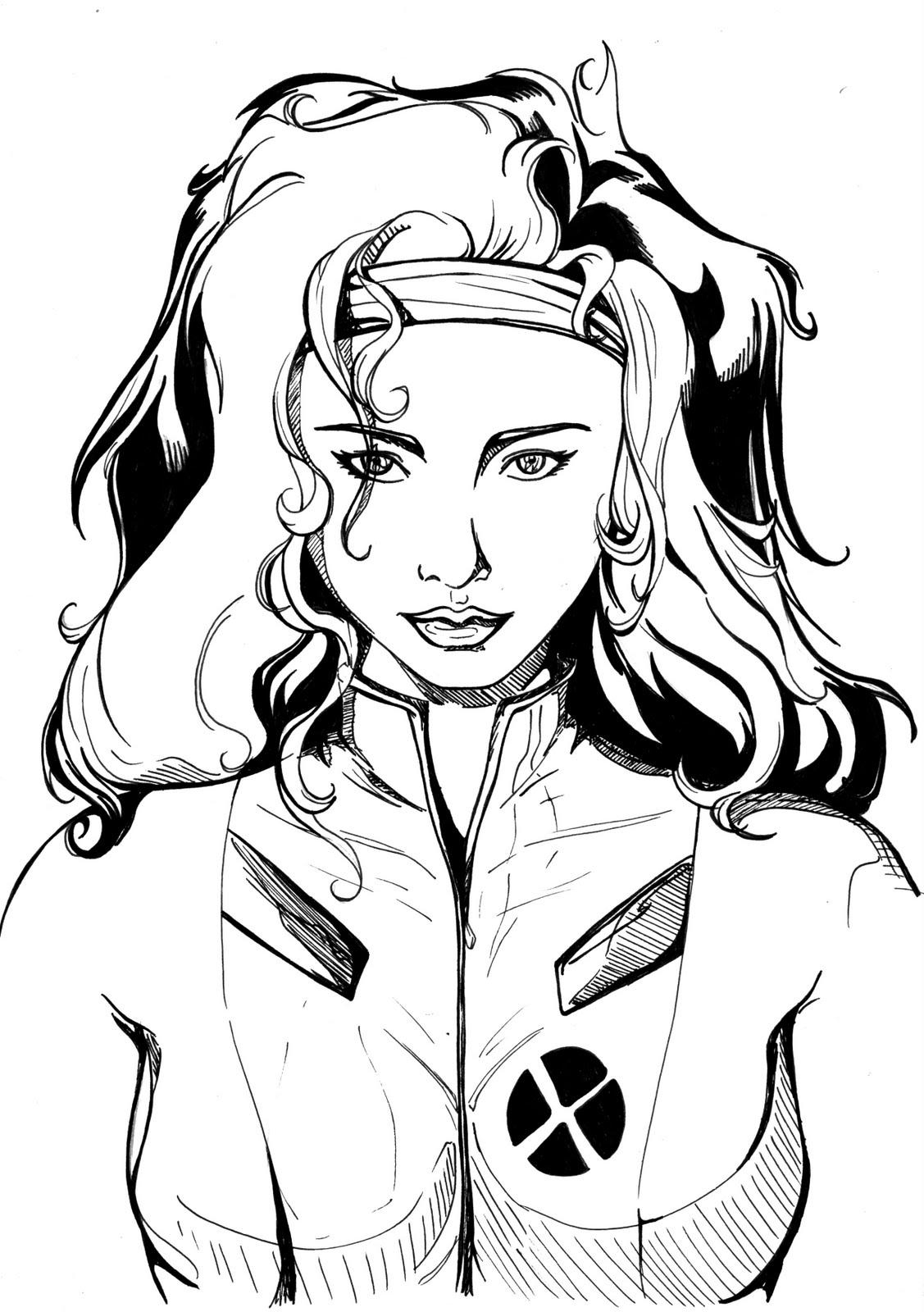 imagem pintar vampira Desenhos para Colorir do X Men: Wolverine, Vampira, Ciclope etc Online