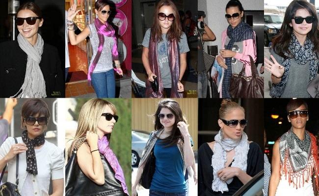 moda lenco Acessórios Indispensáveis da Moda: Scarpin, Colar, Tênis, Lenço e Meia