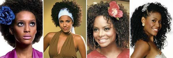 penteado cabelo crespo Penteados para Cabelos Cacheados e Crespos: Presos e Soltos Acessórios