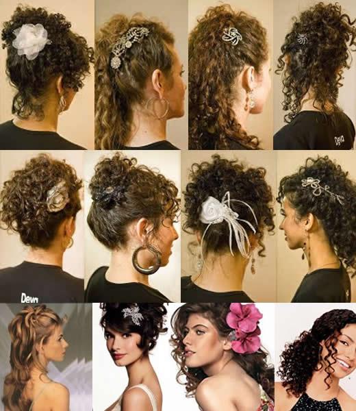 penteados para cabelos cacheados Penteados para Cabelos Cacheados e Crespos: Presos e Soltos Acessórios