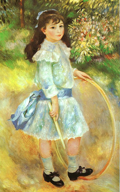 Girl With a Hoop - 1885-de-renoir