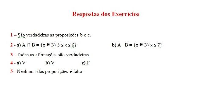 respostas exercicios de conjuntos numericos Conjuntos Numéricos Exercícios com Respostas: Explicação e Atividades