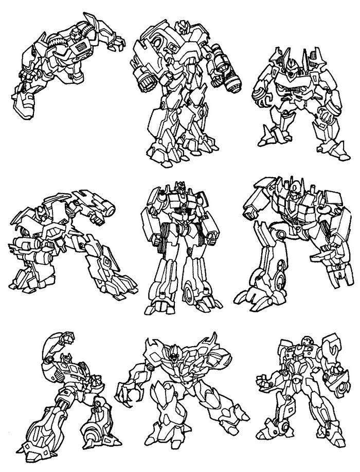 transformers para colorir