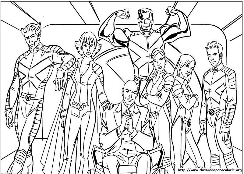 x men imagens colorir Desenhos para Colorir do X Men: Wolverine, Vampira, Ciclope etc Online