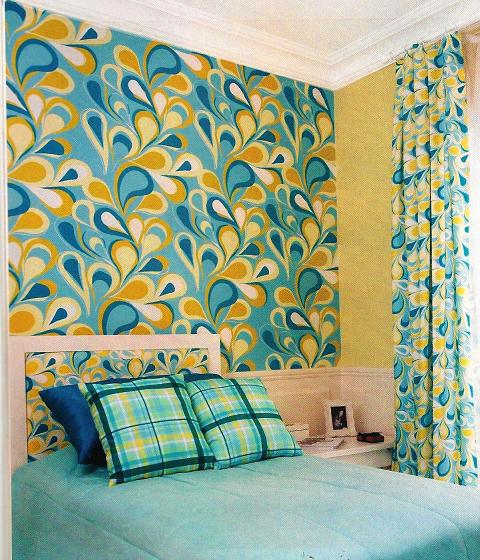 decoracao com tecido para parede Paredes com Tecidos, Como Aplicar e Retirar: Modelos, Decoração, Fotos