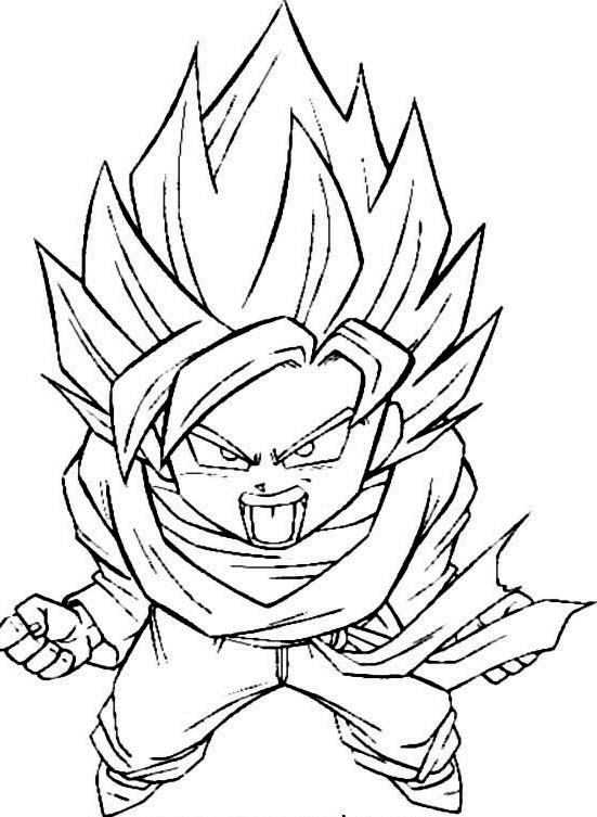 dragon ball 2 imagem pintar Desenhos para Colorir do Dragon Ball Z: Goku Imagens Online Pintar