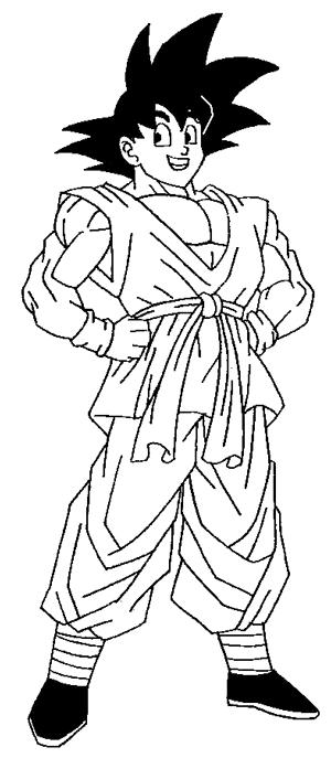 dragon ball z kai coloring Desenhos para Colorir do Dragon Ball Z: Goku Imagens Online Pintar