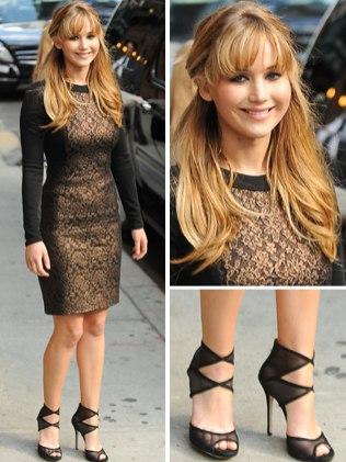 moda jennifer lawrence look Moda Jennifer Lawrence: Roupas, Vestidos, Estilo, Cabelo e Maquiagem