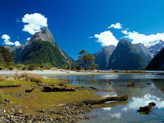Mitre Peak Milford Sound Nova zelandia Nova Zelândia Paisagens: Fotos de Montanhas, Natureza, Turismo no País