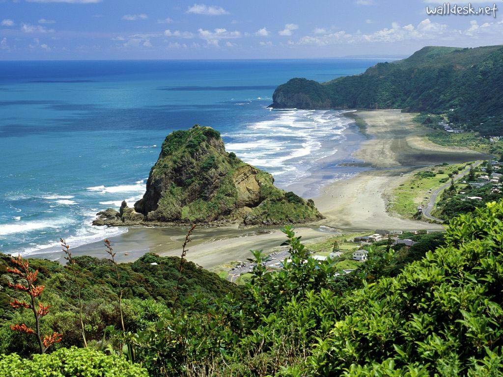 Piha Beach Nova Zelândia Paisagens: Fotos de Montanhas, Natureza, Turismo no País