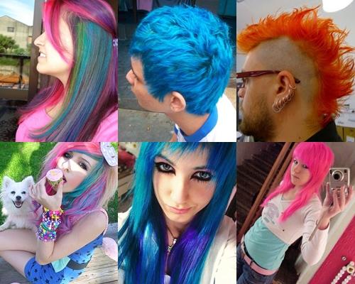 cabelos coloridos2 Cabelos Texturizados, Undercut, Tendências: Coloridos, Ruivos, Modelos
