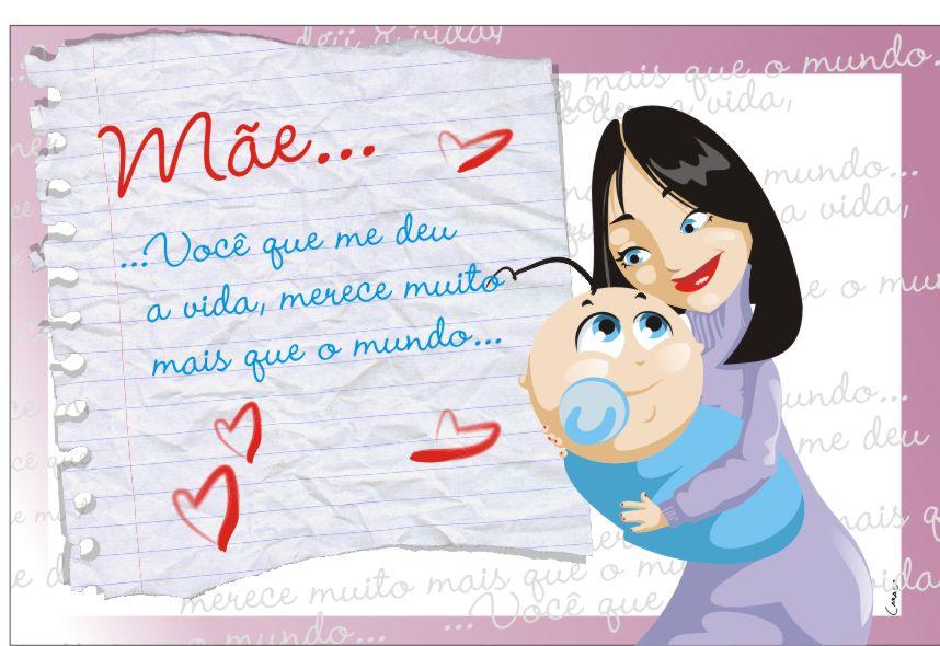 Cartões Do Dia Das Mães Lindas Mensagens Online Para Imprimir Grátis