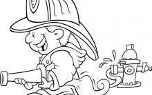 Desenhos para Colorir de Profissões: Médico, Bombeiro, Professor etc