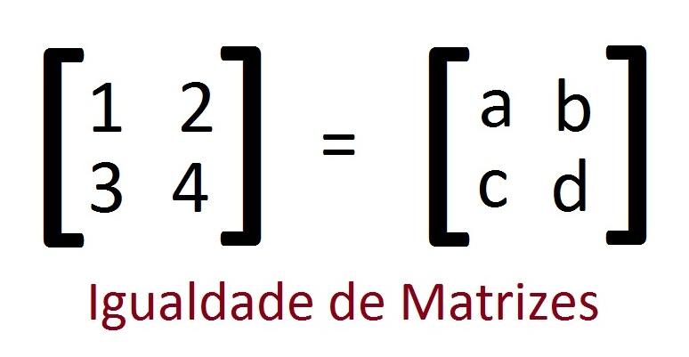 igualdade de matrizes Igualdade de Matrizes: Como Encontrar, Explicação, Exemplo, Exercícios