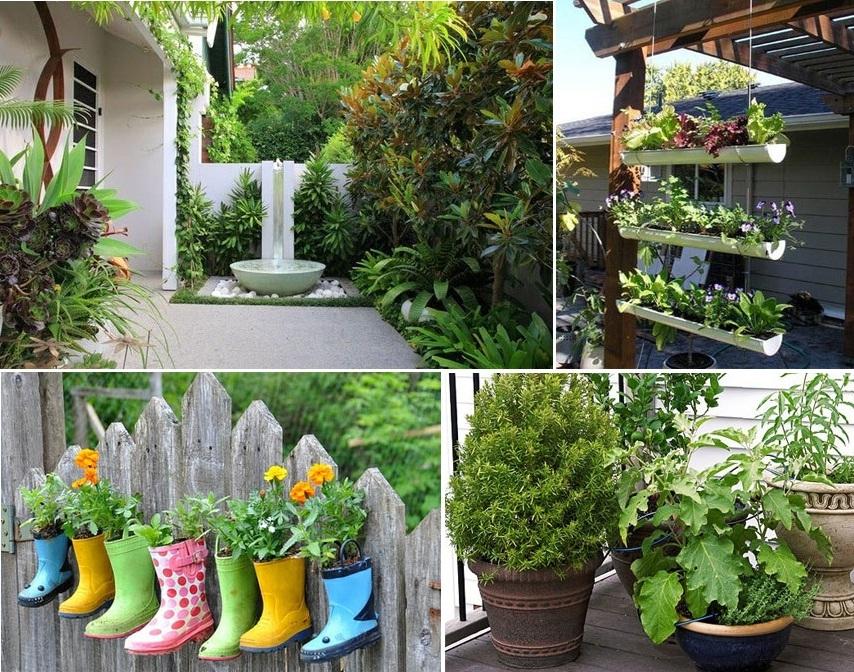 para jardins pequenos são alguns passos simples ideais para você
