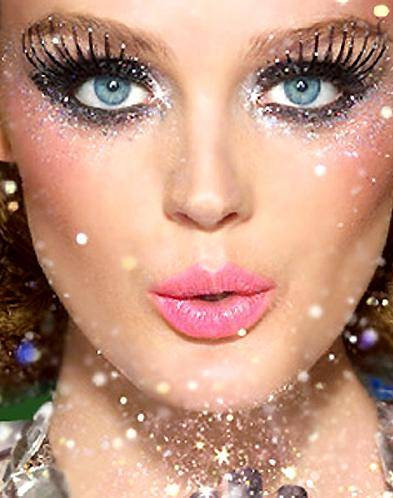 maquiagem com glitter Moda Glitter 2012 2013: Maquiagem, Unhas, Sapatos, Roupas para Arrasar
