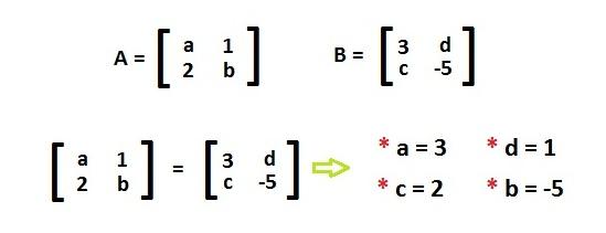 matrizes iguais2 Igualdade de Matrizes: Como Encontrar, Explicação, Exemplo, Exercícios