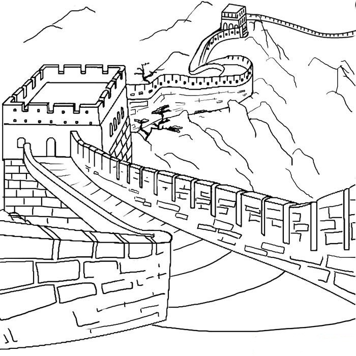 Free Coloring Pages Of Great Wall China Great Wall Of China Coloring Page