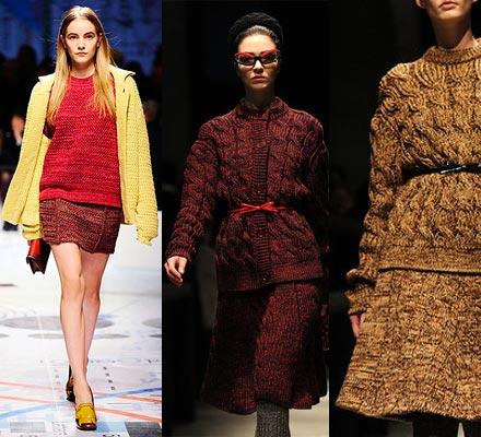 tricô invernos 2012 Moda Tricô Inverno 2012 2013: Roupas, Vestidos, Blusas, Cachecóis Foto
