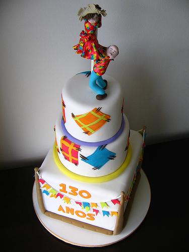 bolo decorado festa junina 12 21 Modelos de Bolo Caipira: Fotos, Casamento, Festa Junina, Aniversário