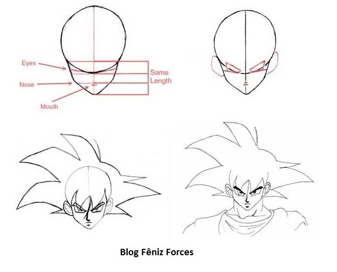 Como Desenhar Dragon Ball Z Video E Moldes Mangá Anime