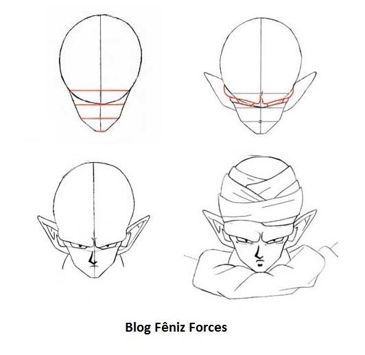 Como Desenhar Dragon Ball Z Video E Moldes Manga Anime Passo A Passo