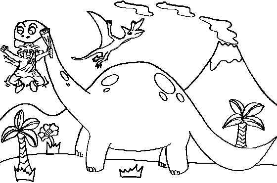 dinossauro colorir