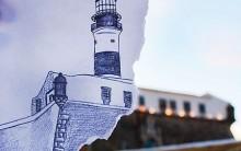 """""""Um Farol, 365 Dias"""": Site, Fotos do Farol, Desenhos, Fotografias, Salvador"""